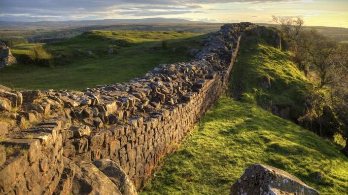 An earlier border wall.